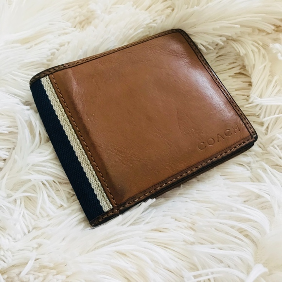 ed59319bc7b5 ... germany coach brown mens bifold wallet 6639d 1579d